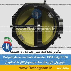منهول پلی اتیلن قطر 1500 ارتفاع 180 سانتیمتر